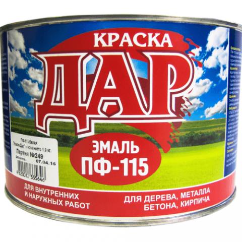 Эмаль ПФ-115 салатная 1,9 кг ДАР