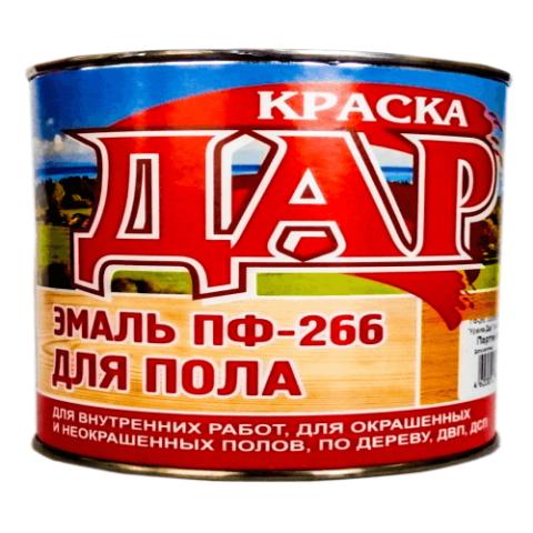 Эмаль ПФ-266 желто-коричневая 1,9 кг ДАР