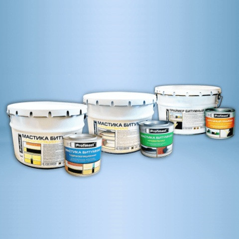 Мастика битумная гидроизоляционная (16кг/металл/белое) PROFIMAST