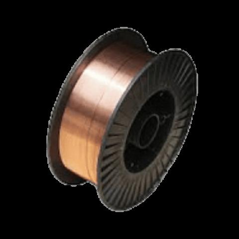 Проволока омедненная сварочная из легированной стали Св08Г2С D200 d 0.8мм (5кг)